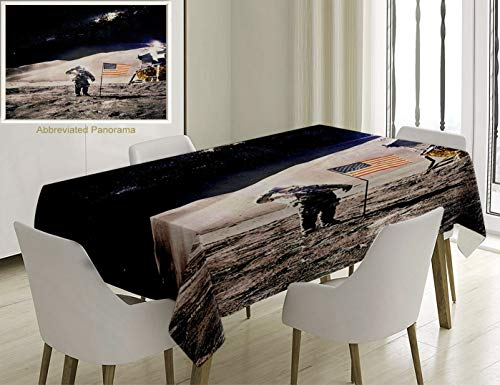 Unique Custom Cotton And Linen Blend Tablecloth Space Decor