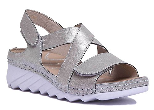 Fashion 3680649730 Platino Romika Sandals Women's vznnwqH6E