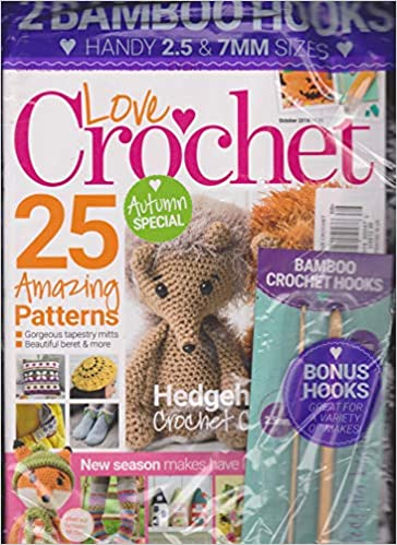 Love Crochet Magazine October 2018 Love Crochet Amazoncom Books