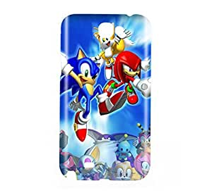 Sonic the Hedgehog Game Snap on Plastic Case Cover Compatible with Samsung Galaxy Note II 2