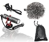 Movo VXR10GY Universal Video Microphone with Shock Mount