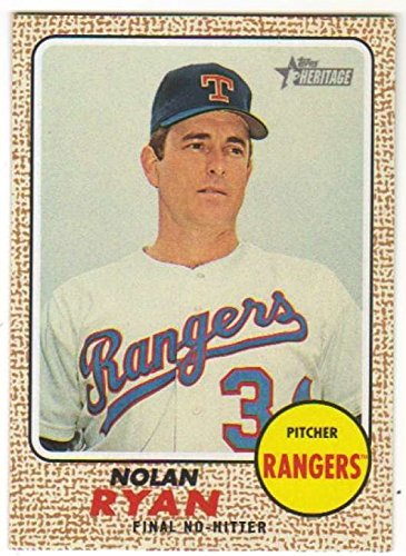 Rangers Nolan Texas Ryan Numbers (2017 Topps Heritage High Number Ryan Highlights #NRH-5 Nolan Ryan Rangers)
