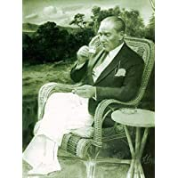 Vizyon Sanat-Atatürk kahve içerken - Kanvas Tablo