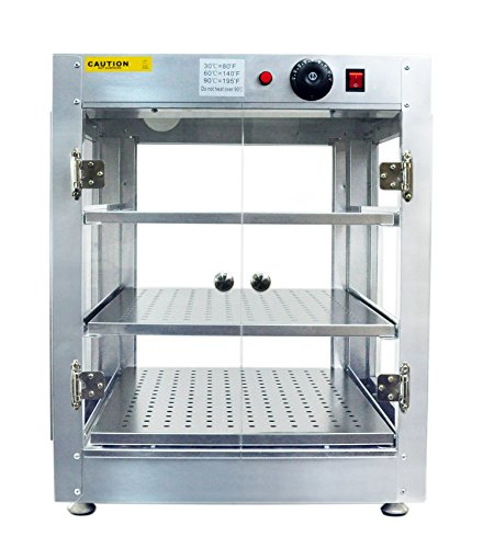 Rincons Commercial 20x20x24 Countertop Food Pizza Pastry Warmer Display Case 110V
