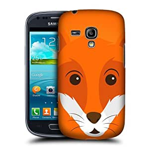 Head Case Designs Fox Cartoon Animal Faces Protective Snap-on Hard Back Case Cover for Samsung Galaxy S3 III mini I8190 by ruishername