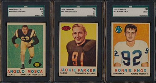 1959 Topps CFL Football VGEX avg complete 88 card set low grade 46423