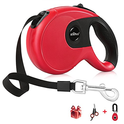 Krbp Retractable Dog Leash with Pet Training Clicker and Nail Cutter, 16FT Dog Walking Leash for Small Medium Large Pet up to 88LBS, Tangle Free, Comfort Anti-Slip Handle with One Button Break & Lock
