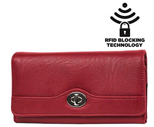 mundi-womens-rfid-blocking-file-master-wallet-clutch-organizer-new-pebble-pattern-red