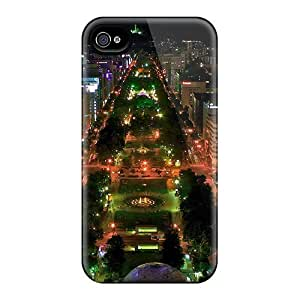 Iphone 4/4s WCn2398lLOY Tokyo Blvd At Night Tpu Silicone Gel Case Cover. Fits Iphone 4/4s