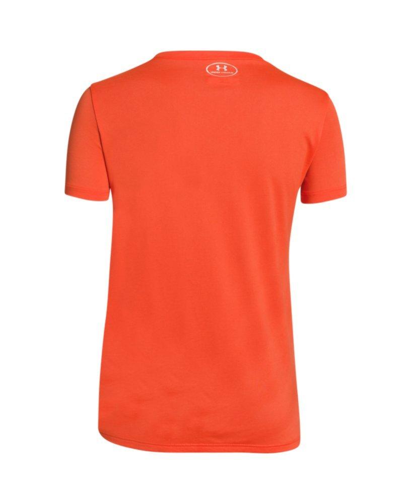 Under Armour UA Big Logo Tech Manches Courtes et col en V pour Fille T-Shirt de Fitness et r/éservoir