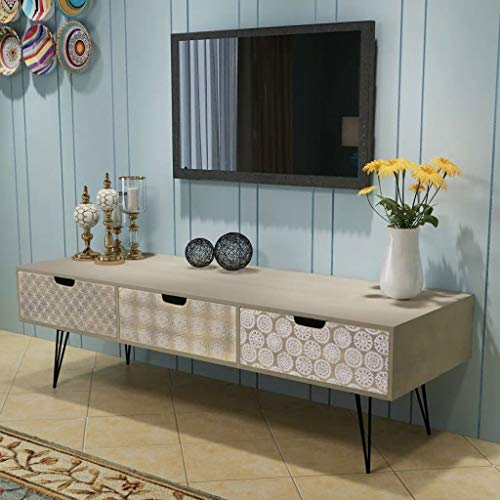 Alek...Shop Retro Design Furniture Decor Side Console TV Home Entertainment Center Cabinet Storage Drawers Sideboard Table Stand Furniture ()