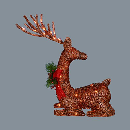 Brown Lighted Outdoor Reindeer
