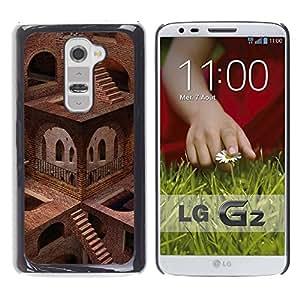 "For LG G2 , S-type Arquitectura Escaleras imposibles"" - Arte & diseño plástico duro Fundas Cover Cubre Hard Case Cover"