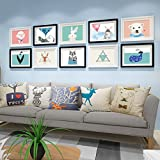 Home@Wall photo frame Photo Gallery Frame Sets Of Wall Fashion Home Decoration With Usable Artwork And Family, Sets Of 10 ( Color : D )