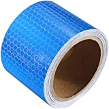 Laps of Luxury Imported 50.8 mm (2 Inches) Reflective Tape - 3.65 Meter (12 Ft.) Fluoroscent Blue Color Strip