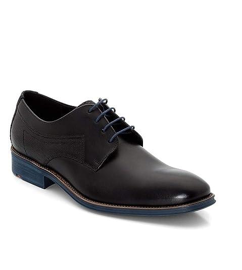 separation shoes b8e8e 3cfb3 LLOYD GENF Business-Schuhe in Übergrößen Schwarz/Blau 19-059-11 große  Herrenschuhe