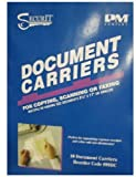 PM Company SecurIt Document Carriers, 8.5 x 11.5 Inches, Clear Front/White Backing, 10 Per Package (099DC)