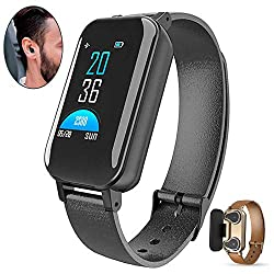 WooyMo Smart Wristbands, Smartwatch Heart Rate Monitor Smart Earbuds Watch Activity Tracker Waterproof Alarm Clock Blood Pressure Sports Step Monitor Pedometer Bracelet