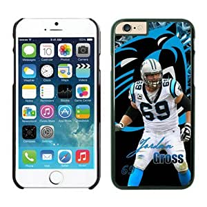 Carolina Panthers Jordan Gross Case For iPhone 6 Plus Black 5.5 inches