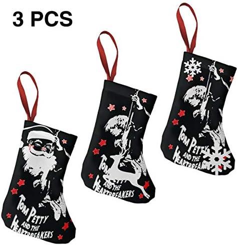 クリスマスの日の靴下 (ソックス3個)クリスマスデコレーションソックス Cotton Tom クリスマス、ハロウィン 家庭用、ショッピングモール用、お祝いの雰囲気を加える 人気を高める、販売、プロモーション、年次式