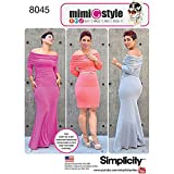 Simplicity Patterns Miss and Plus Size Knit Dress from Mimi G Style Size: BB (20W-28W), 8045