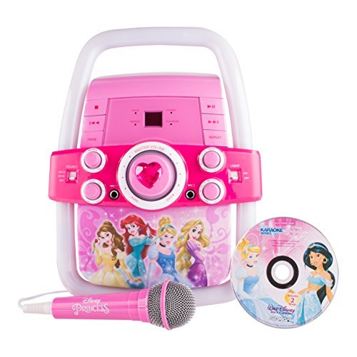 Disney Princess Flashing Lights Fairy Tale Karaoke Machine - Includes 2 Tracks by Sakar