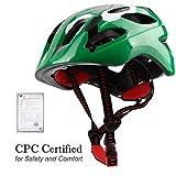 Basecamp Kids Bike Helmet, Adjustable Safety Protective Toddler Helmets for Children Boys and Girls Road Mountain Racing Biking Cycling Skating Skateboarding (Army Green)