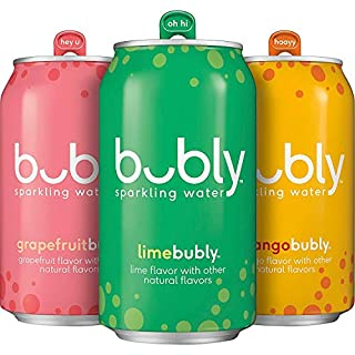 bubly Sparkling Water, Tropical Thrill Variety Pack, 12 fl oz. cans (18 Pack)