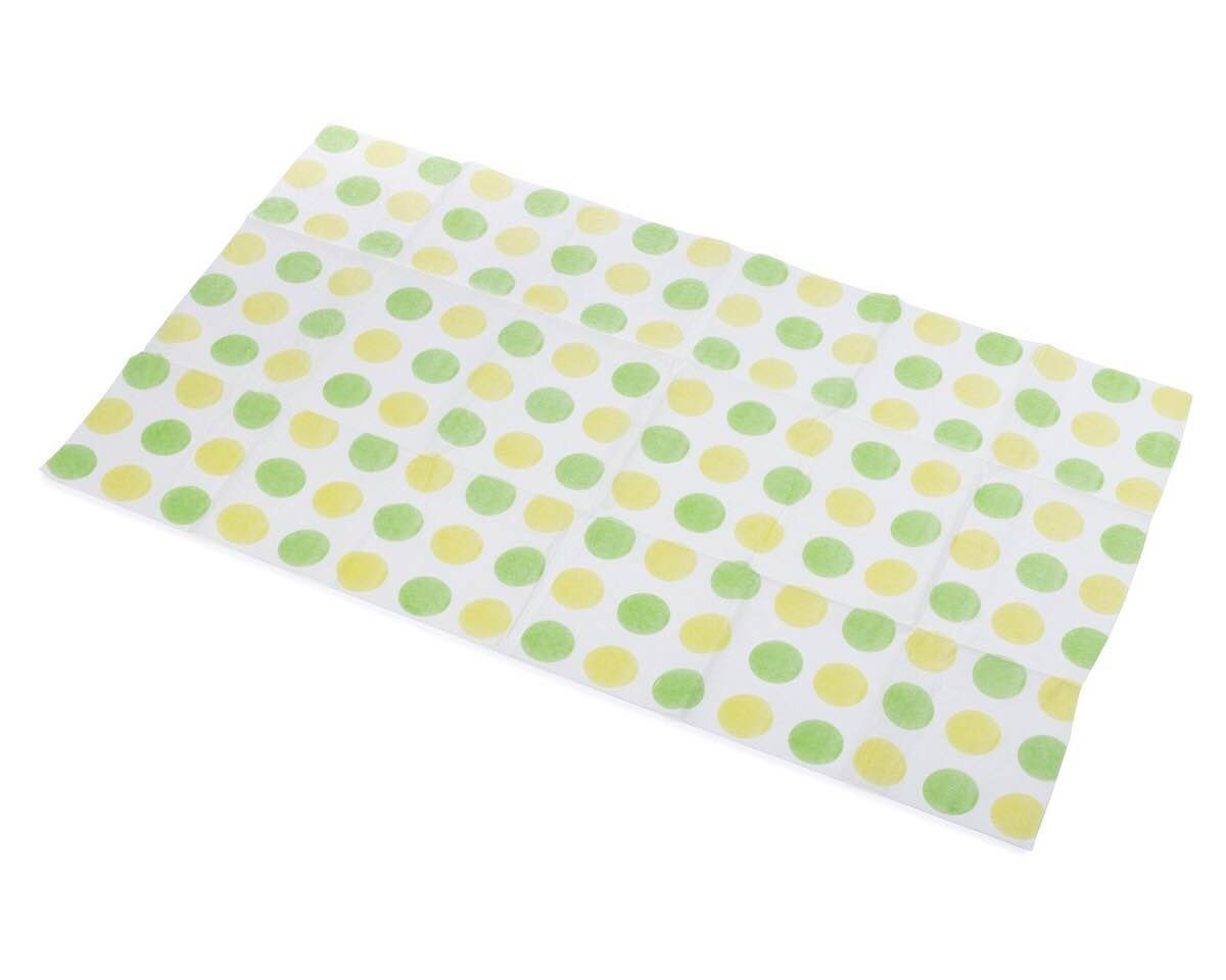 Little Things 25 LARGE Disposable Baby Diaper Changing Pads, 100% Leak-Proof Sanitary Mats for Changing Tables, Great for Travel, Premium Liners 26.75x18 in (Green/Yellow Dot Pattern)