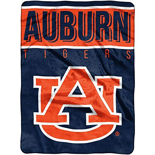 The Northwest Company Officially Licensed NCAA Auburn Tigers Basic Raschel Throw Blanket, 60