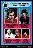 1979 Topps # 7 Game Winning Goal Leaders Guy LaFleur / Mike Bossy / Brian Trottier / Jean Pronovost / Ted Bulley (Hockey Card) Dean's Cards 8 - NM/MT