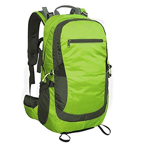 AMOS Al aire libre alpinismo bolsa de viaje bolsa de viaje de viaje bolsa de mochila hombro hombres y mujeres 40L 50L Verde
