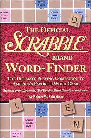 The Official Scrabble Brand Word-finder: Amazon.es: Schachner, Robert W.: Libros en idiomas extranjeros