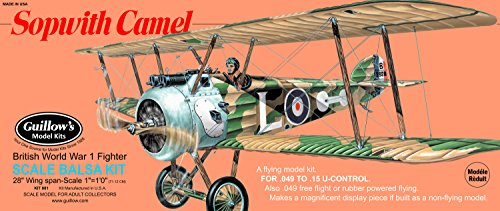 Flying Camel Sopwith - Guillow's Sopwith Camel Model Kit