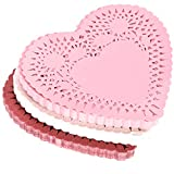 360 Count Heart Doilies 4 Inch Red Pink and White Paper Lace Doilies for Valentine Day Decorations for DIY Crafts for Valentine's Day