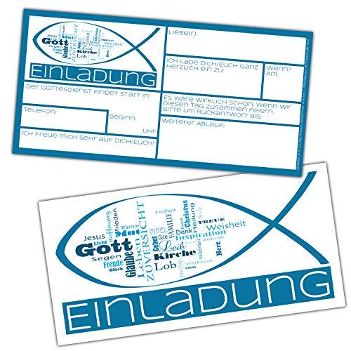 15er Set Wortwolke Einladungskarten Mit Umschlag Zur