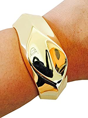 FUNKtional Wearables Fitbit Bracelet for Fitbit Flex Activity Tracker - The Lori Metal Hinge Bangle Fitbit Bracelet