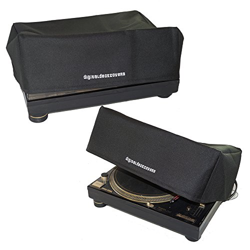TECHNICS Turntable Dust Cover for SL-1200/SL-1210 & Pioneer PLX-1000 Record Player Protector [Water Resistant, Antistatic, Black Premium Fabric] by DigitalDeckCovers (Technics 1200 Dust Cover)