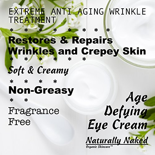 Age Defying Eye Cream, 1.7 oz (50 ml) Advanced Eye ANTI WRINKLE Cream, Dark Circles, Puffiness, Best Crepey Skin Treatment, Restore Firmness, Youthful Looking Skin, Kosher Cert Mat. 40% Organic