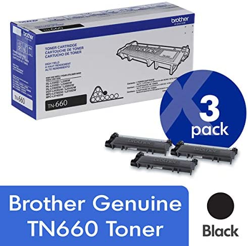 Brother TN660 TN 660 Cartridge 3 Pack