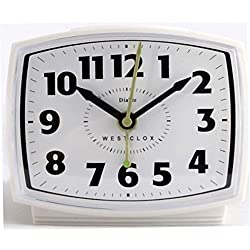 ALARM CLOCK ELECTRIC WHT by WESTCLOX Mfr PartNo 22192A, cream
