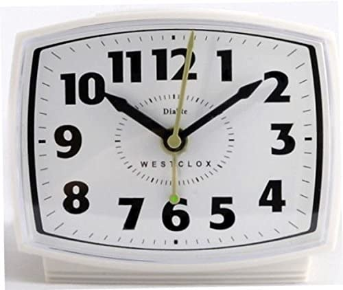 ALARM CLOCK ELECTRIC WHT by WESTCLOX Mfr PartNo 22192A, cream
