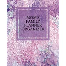"Mom's Family Planner Organizer: Purple Floral Parents Ultimate Household Managment Book | Add Details of 4 Children, Emergency Infromation, School Information, Chore Checklist, Cleaning Schedule, Childcare Log, Meal Planner & More | 8""x10"" Paperback"