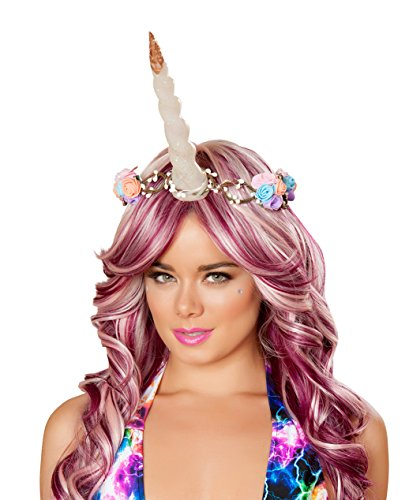 Light Up Unicorn Costume (J. Valentine Women's Light-up Unicorn Flower Crown, Multi, One Size)