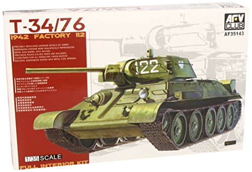 (T34/76 1942 Factory 112 Full Interior Tank 1-35 AFV Club)