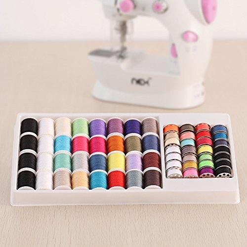 Metal Polyester Thread (NEX Sewing Machine Thread 60pcs Mixed Colors Metal Thread Spool)