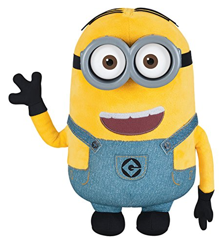 Despicable Me Minion Dave Plush with Pop-Out Eyes Toy Figure]()
