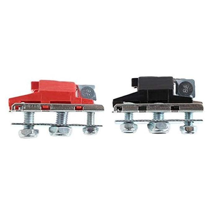 AMOYER 12V 3 v/ías terminales de la bater/ía Ocio Conectores Abrazaderas de Coches Caravana Autocaravana
