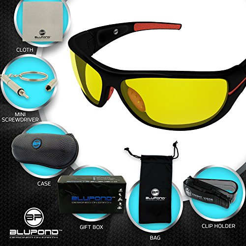 0b16faaf61d Polarized Night Driving Glasses For Men   Women With HD Night Vision CHOPPER  by BLUPOND (