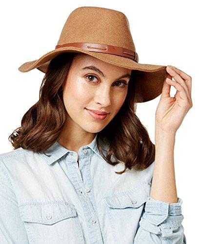 INC International Concepts Women's Belted Band Panama Hat,One Size (Camel) ()